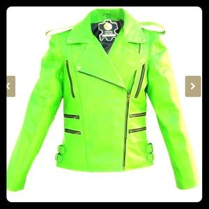 💚NWT💚Hot Green Moto Jacket XL fitted!!